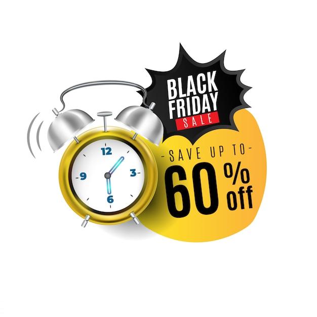 Projeto de banner de venda de sexta-feira negra Vetor Premium