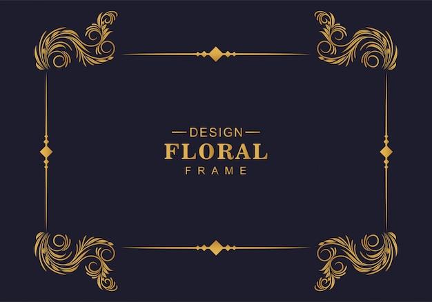 Projeto de borda de decoração de moldura floral ornamental Vetor grátis
