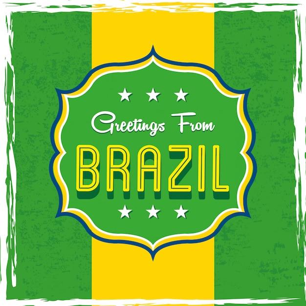 Projeto de brasil sobre ilustração em vetor bandeira fundo Vetor Premium