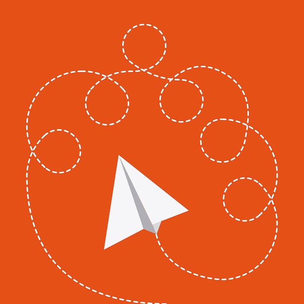 Projeto de brinquedos sobre ilustração vetorial de fundo laranja Vetor Premium