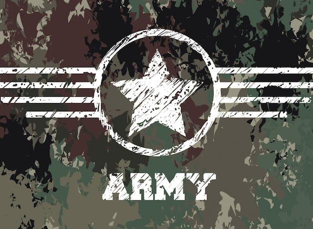Projeto de camuflagem militar. Vetor Premium