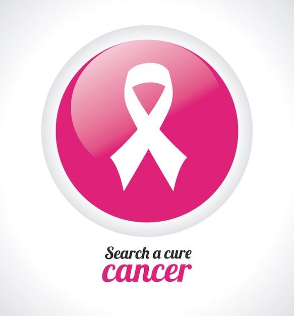 Projeto de câncer de mama. Vetor Premium