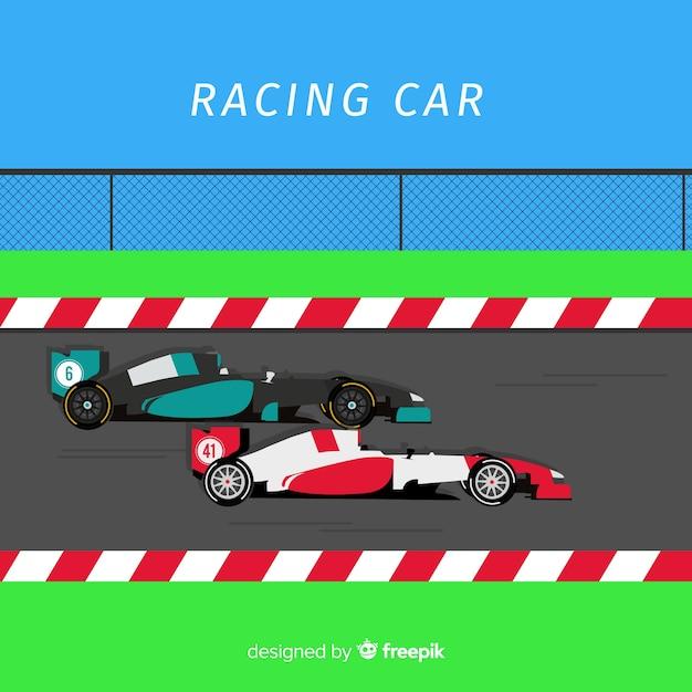 Projeto de carro de corrida de fórmula 1 Vetor grátis