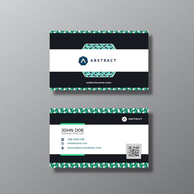 Projeto de cartão abstrato Vetor grátis