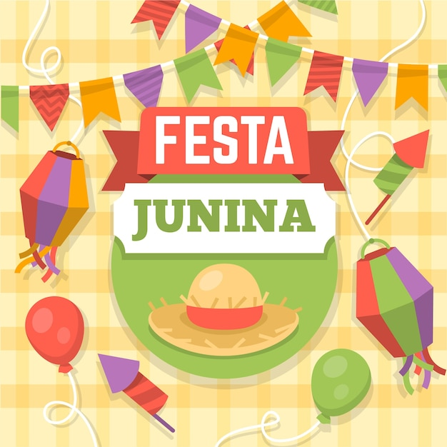 Projeto de celebração festa junina Vetor grátis