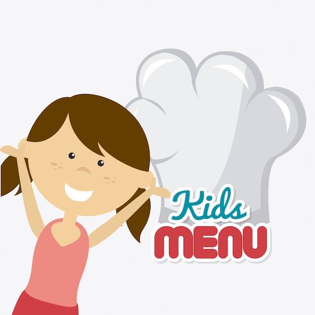Projeto de comida de crianças. Vetor Premium