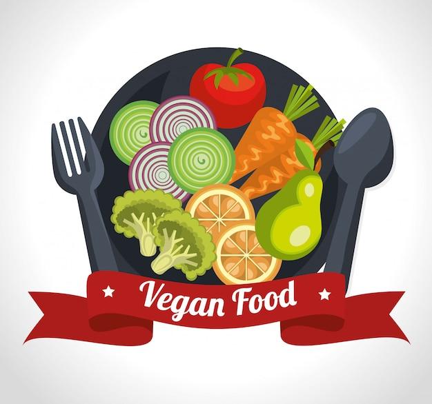 Projeto de comida saudável Vetor Premium