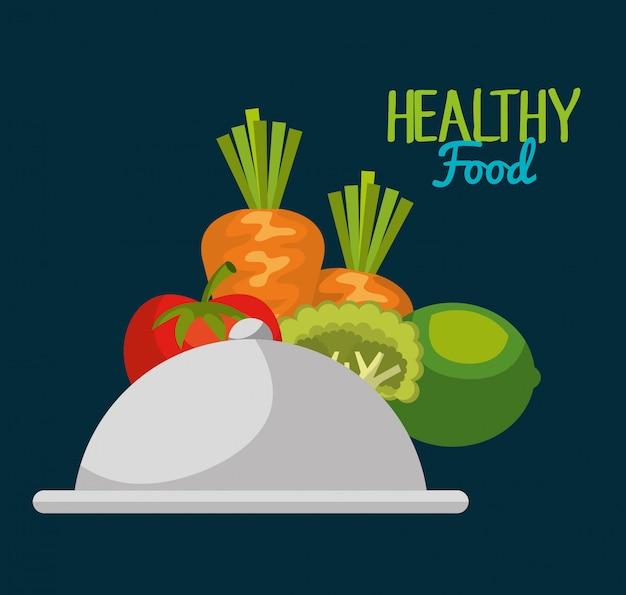 Projeto de comida saudável Vetor grátis