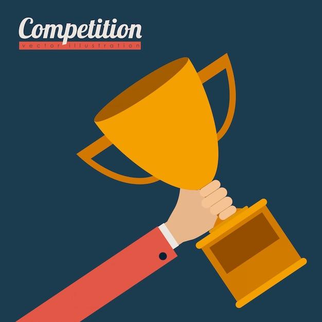 Projeto de competição, ilustração vetorial. Vetor Premium