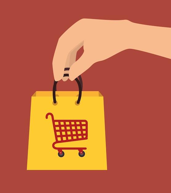 Projeto de compras. Vetor Premium