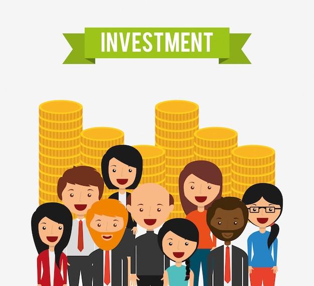 Projeto de conceito de investimento Vetor grátis