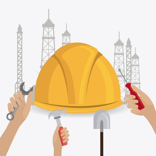Projeto de construção. Vetor Premium