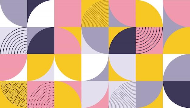 Projeto de cor abstrata padrão geométrico Vetor Premium