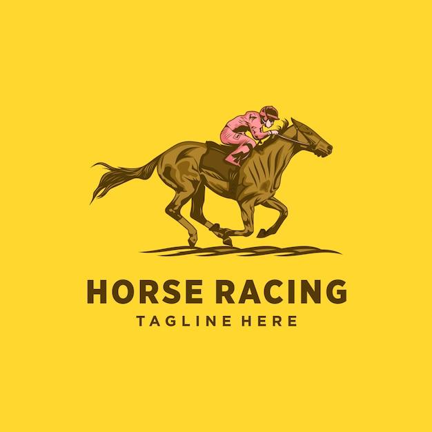 Projeto de corridas de cavalos Vetor Premium