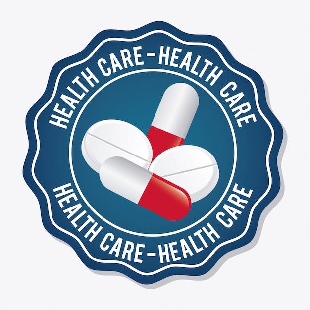 Projeto de cuidados de saúde Vetor grátis