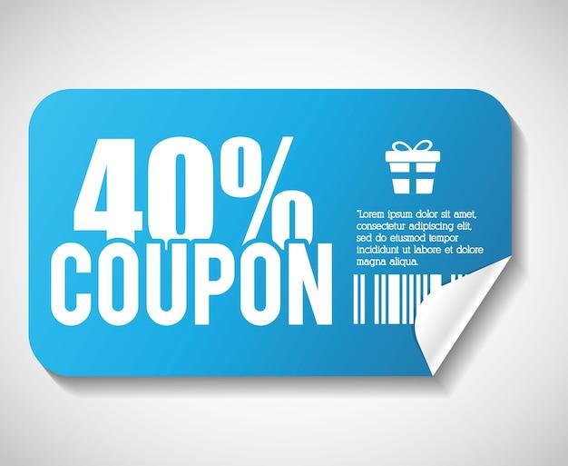 Projeto de cupom. ícone de venda. conceito de compras Vetor Premium