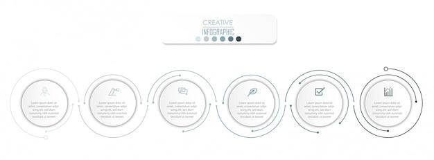 Projeto de diagrama de infográfico Vetor Premium