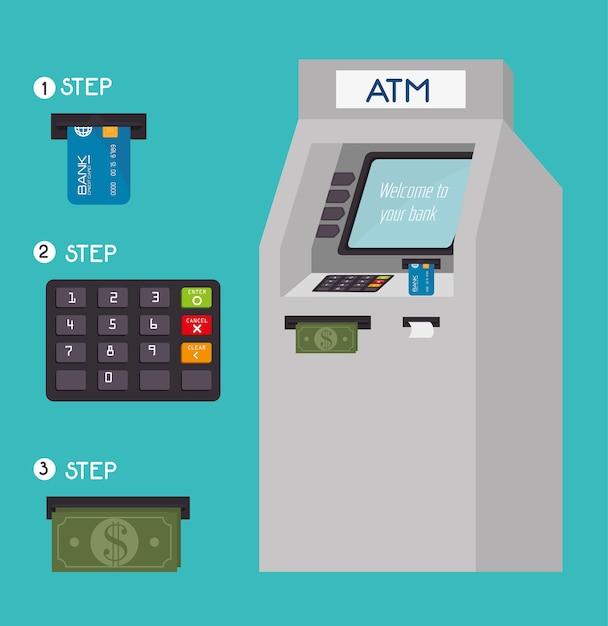 Projeto de dinheiro, ilustração vetorial. Vetor Premium