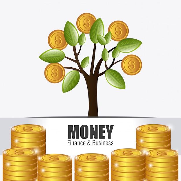 Projeto de dinheiro. Vetor Premium