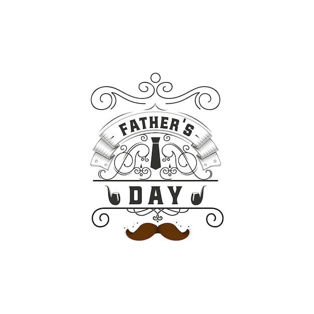 Projeto de distintivo do dia dos pais Vetor Premium