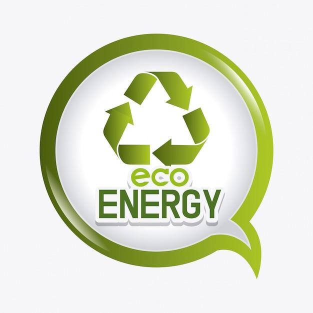 Projeto de ecologia de energia verde Vetor grátis