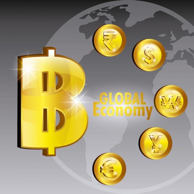 Projeto de economia global. Vetor grátis