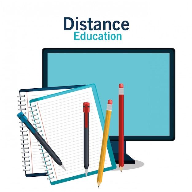 Projeto de educação a distância Vetor Premium