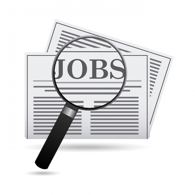 Projeto de empregos Vetor Premium