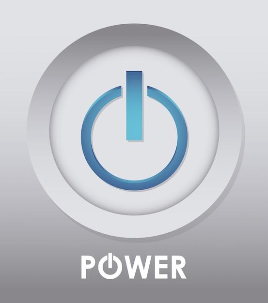 Projeto de energia. illuistration Vetor Premium