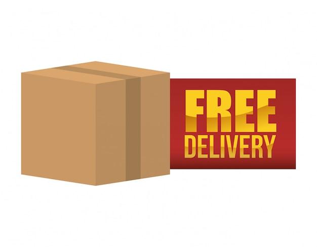 Projeto de entrega gratuita Vetor Premium