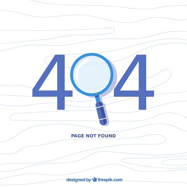 Projeto de erro 404 com lupa Vetor grátis