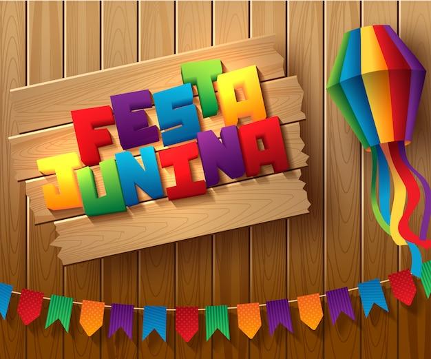Projeto de feriado festa junina brasil Vetor Premium