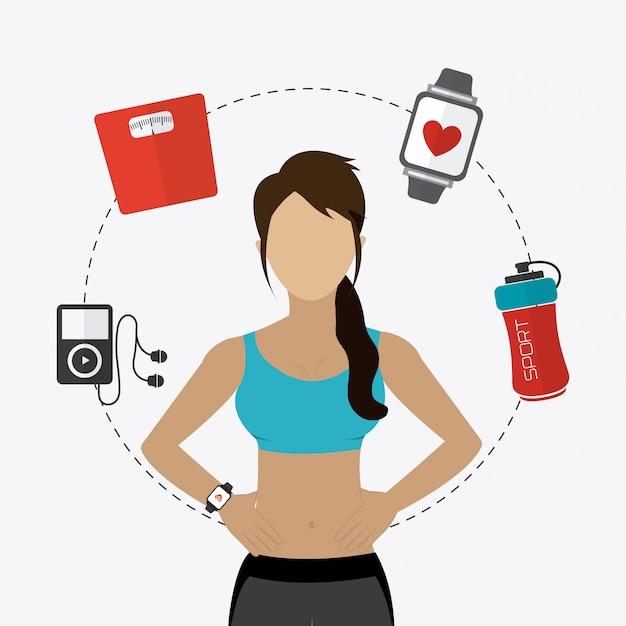 Vetor Premium | Projeto de fitness