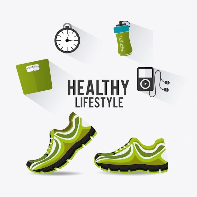 Projeto de fitness. Vetor Premium