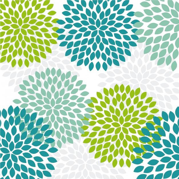 Projeto de flores sobre ilustração vetorial de fundo branco Vetor Premium