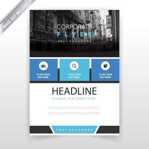 projeto de folheto do relatório anual azul Vetor grátis