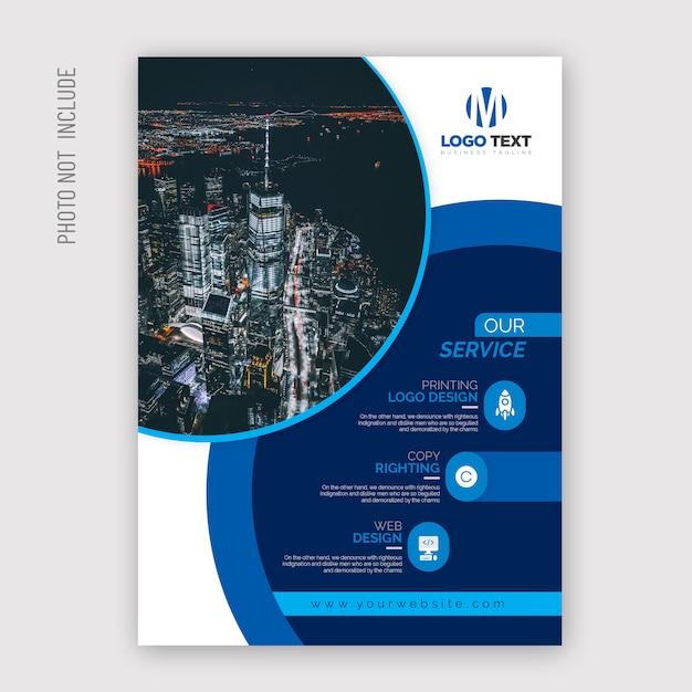Projeto de folheto multiuso Vetor Premium