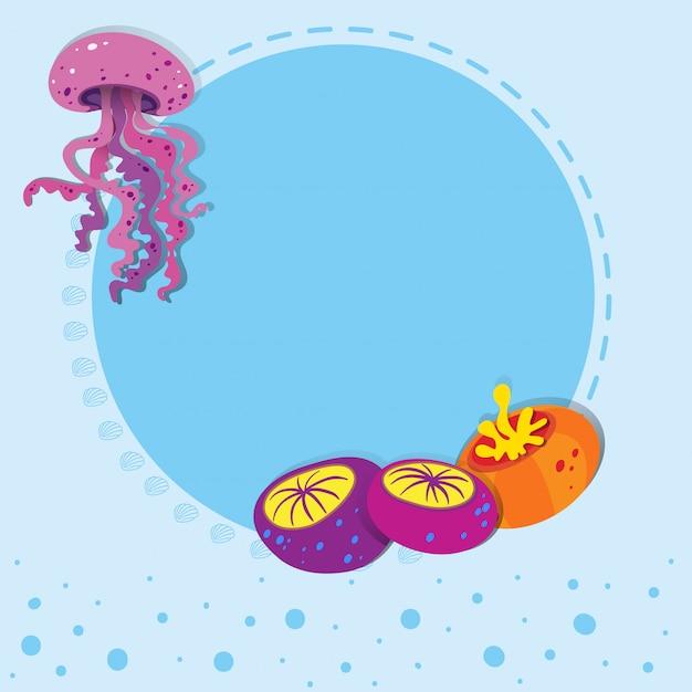 Projeto de fronteira com medusas Vetor grátis