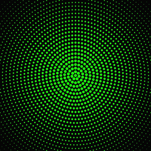 Projeto de fundo abstrato ponto circular de meio-tom Vetor Premium