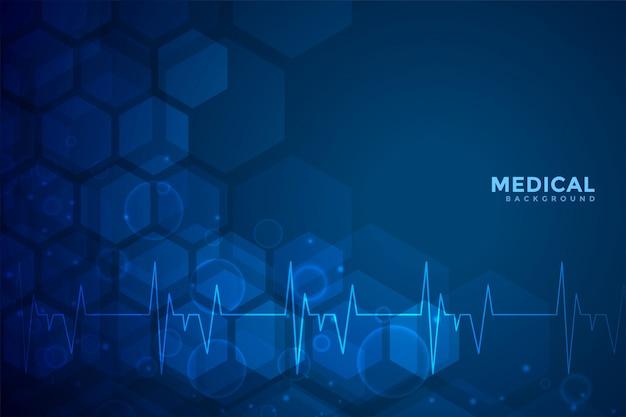 Projeto de fundo azul médico e de saúde Vetor grátis