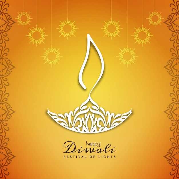 Projeto de fundo bonito feliz diwali feliz Vetor grátis