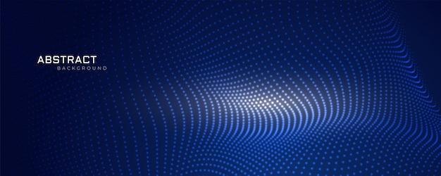 Projeto de fundo de malha de partículas de tecnologia Vetor grátis
