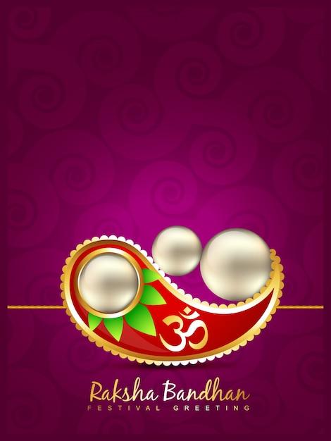 Projeto de fundo do festival rakshabandhan vector Vetor grátis