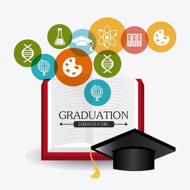 Projeto de graduação do estudante Vetor grátis