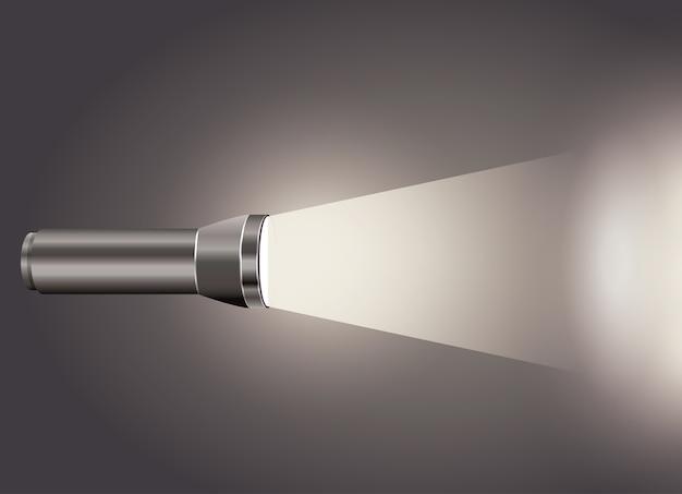 Projeto de ícone de luz do flash Vetor Premium