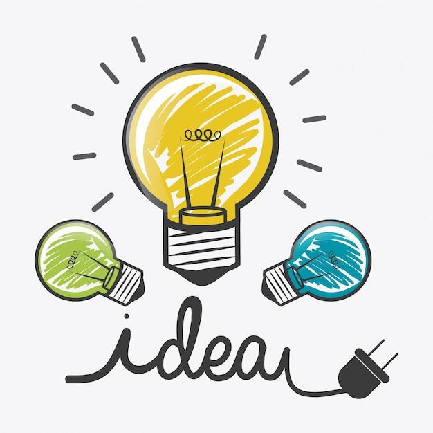 Projeto de idéia. Vetor Premium