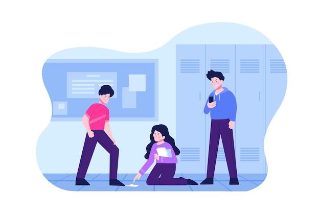 Projeto de ilustração de cyber bullying Vetor grátis