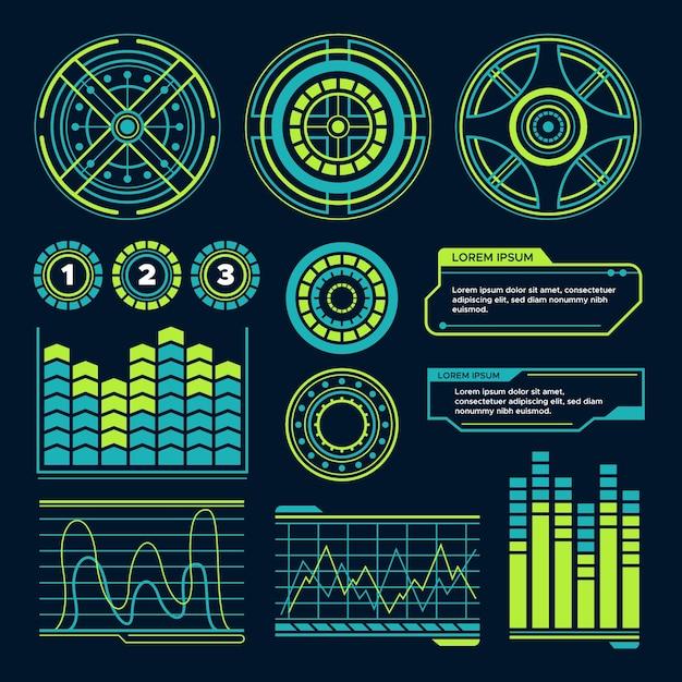 Projeto de infografia futurista Vetor grátis