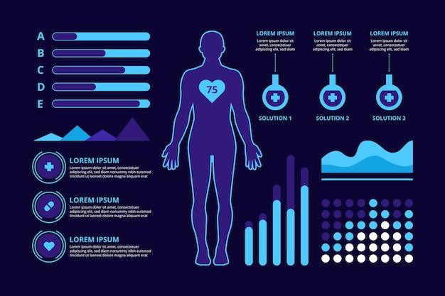 Projeto de infográfico de conceito médico Vetor grátis