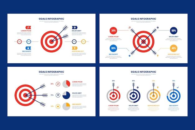 Projeto de infográfico de metas Vetor grátis